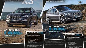 BMW X1 / BMW X3 Sonderaktionsmodell – solange der Vorrat reicht