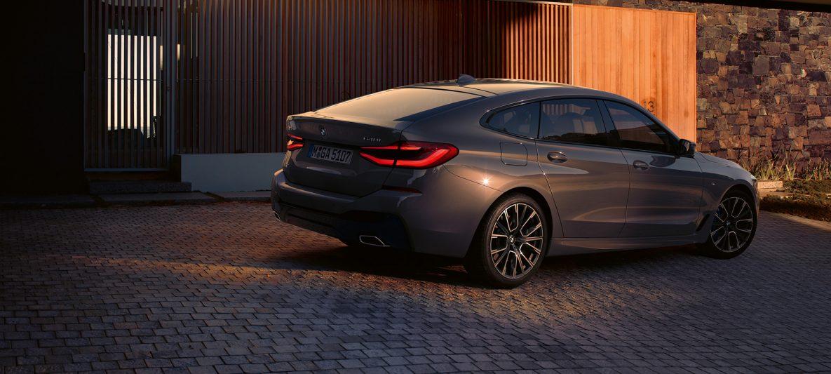Heckdesign BMW 6er Gran Turismo 640i xDrive G32 2020 Berninagrau Heckansicht